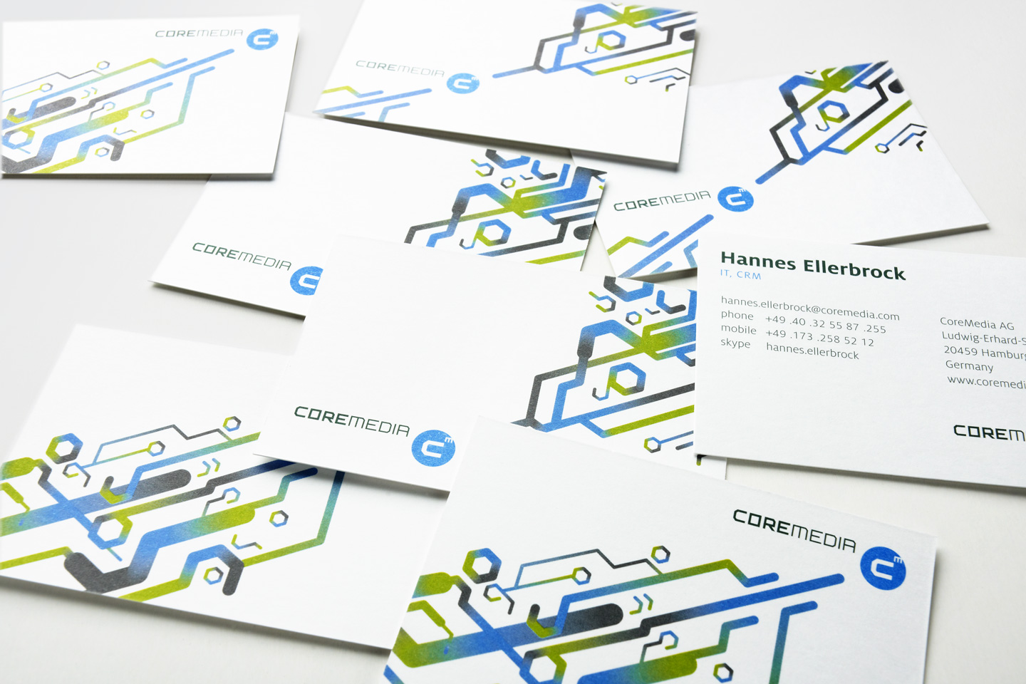 Corporate Design / Visitenkarten: CoreMedia