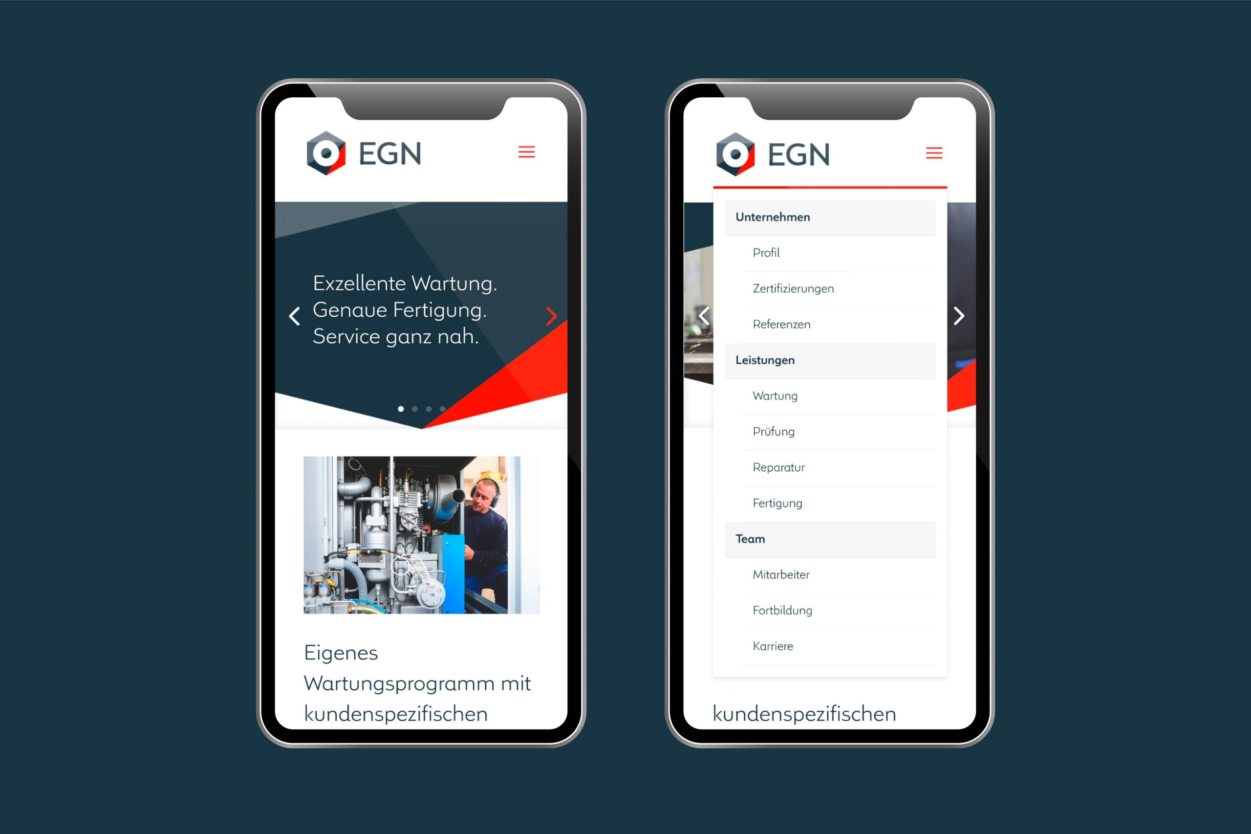 Digitale Kommuniktion / Webdesign: EGN Service