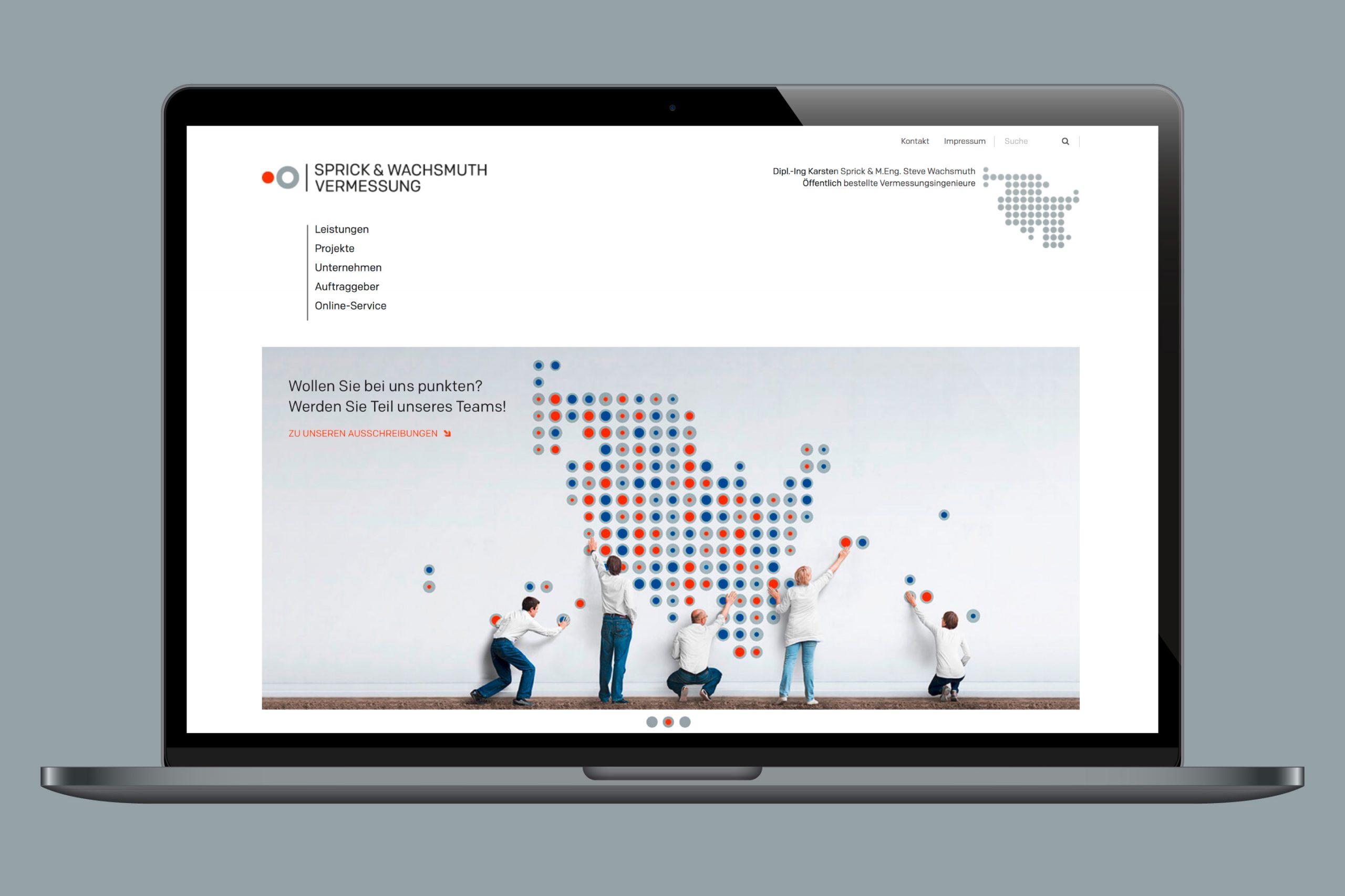 Digitale Kommuniktion / Webdesign: SW Vermessung